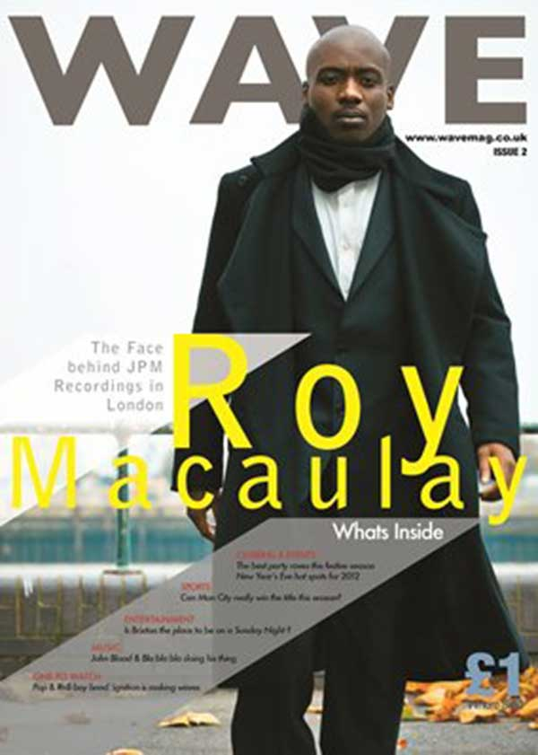 Image of Darkjoint on front cover of Wave magazine