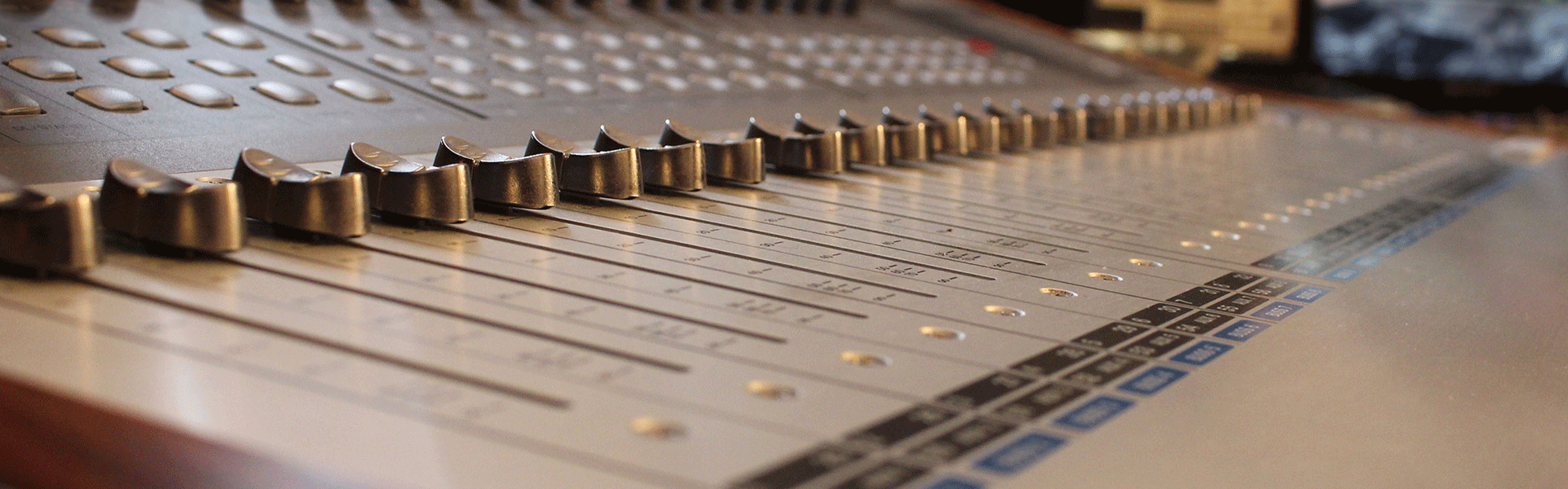 Image of mixing console
